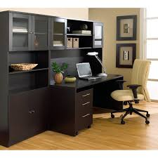 contemporary home office interior brown metal office desk