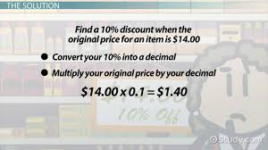 Calculating A 10 Percent Discount How To Steps