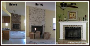 Fireplace Refacing Cost Best 20 Stone Fireplace Makeover Ideas On Pinterest Corner