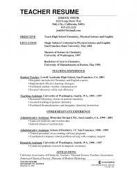 Objective For Teacher Resume Science Teacher Resume Objective Sample Teaching Resume Objectives 89