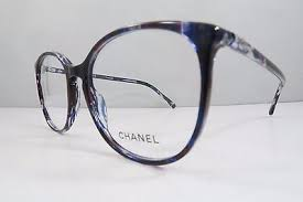 chanel 3282. 2 of 9 chanel 3282 c.1491 runway blue/purple plaid authentic eyeglasses 52mm w/case i