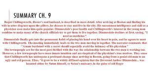 scarlet letter chapter 9 sparknotes resume cover letter template 11