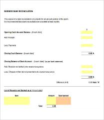 Bank Reconciliation Template Bank Reconciliation Template 13 Free Excel Pdf Documents