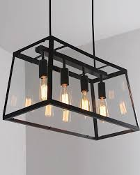 industrial style pendant lighting. 4 Lights Retro Industrial Style Pendant Light With Metal Framed Glass Box Lighting
