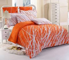 10 fun bright orange comforters and bedding sets with king intended for comforter decor 14