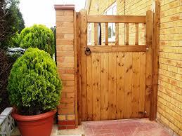 wooden gate design