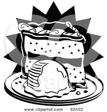 Royalty Free Rf Clipart Illustration Of A Black And White Slice Of