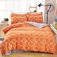 new orange color circles printed twin full queen king size bedding set duvet cover set for kids and s blue and white duvet bedding set king from