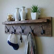 coat hook ideas new best racks on rack natural inspiration diy wood plans full size