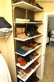 diy shoe rack wooden designs lazy susan plans for closet door
