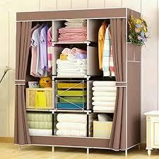 portable closet storage organizer clothes wardrobe with shoe rack shelves