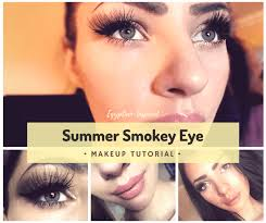 image featuring the egyptian inspired golden brown smokey eye look that will be created in