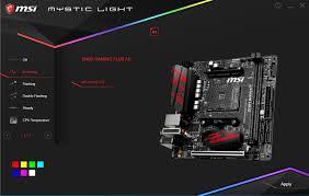 Msi Mystic Light Cpu Temperature B450i Gaming Plus And Mystic Light Msi_gaming
