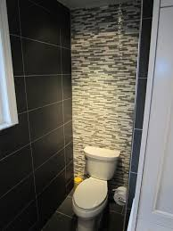 Black and gray traditional-bathroom
