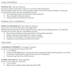 Sample Entry Level Paralegal Resume Transactional Attorney Sample