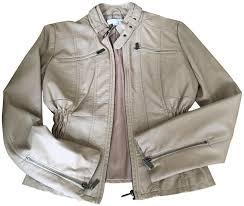 new york company camel leather jacket image 0