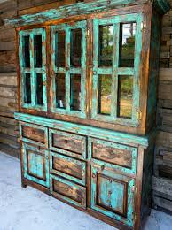 Western Rustic Decor San Antonio Rustic Hutch Western Homes Turquoise And Furniture