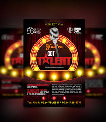 Talent Show Flyer Design Entry 23 By Prngfx For Design A Flyer Talent Show
