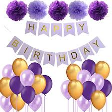 Amazon Com Purple Birthday Decorations Lavender Birthday Decor