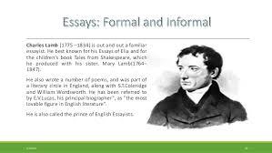 formal essay and informal familiar essay 16
