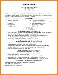 Caregiver Sample Resume Sample Resume Caregiver Sample Resume For Caregiver Resume Examples 33