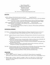 Resume For A Science Graduate Cv Biology Phd P1
