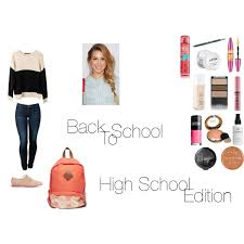 with nicole first day hair makeup outfit high polyvore