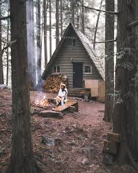cabin camping in the woods. Photo Credit: @alliemtaylor This Is What I Want In Main,except The Front All Windows To Let Breeze :) Cabin Camping Woods N