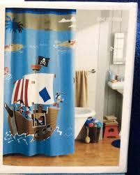 smlf pirate bathroom decor shower curtain crossbones ship kids teen set cloth pirates lighthouse shower curtain