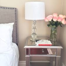Lamps For Bedroom Nightstands Best Mirrored Nightstand For Your Bedroom Design Ideas Awesome