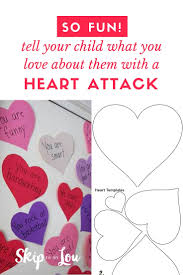 Valentines Day Quotes For Preschoolers Valentine Heart Attack Idea With Free Printable Heart Template