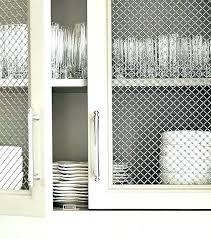 metal cabinet door inserts metal mesh