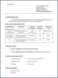 Engineering Fresher Resume Format Doc Diploma In Mechanical Civil