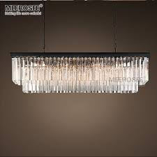 modern rectangle pendant lights crystal hanging re de cristal pertaining to awesome household glass drop rectangular chandelier prepare