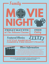 Free Movie Night Flyer Templates Movie Night Template Postermywall