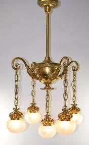 46 most perfect brass moorish style light drop w cut glass shades chandelier fixture small lamp