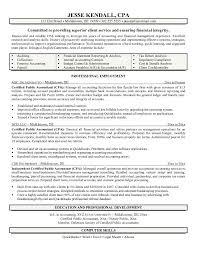 Sample Resume Cpa