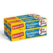 Koroplast Buzdolabı Poşeti Küçük Boy 4 Al 3 Öde 200 Adet 20 x 30 cm Avrupa  Sipariş