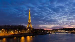 Eiffel Tower Seine River Night ...