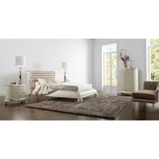 Silver Leaf Bedroom Furniture Opulent Swarovski Buttoned Bed In White Gloss And Silver Leaf