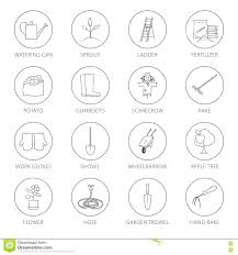 hand tool names. thin line icons agricultural toolgardening tools names in hindi garden name tamil hand tool