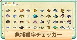 あつ森 魚 図鑑 一覧