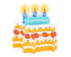 3d Birthday Cake Card Yaymail