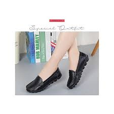 moven plus size womens leather flat shoes casual shoes comfortable nurse shoes mother shoes driving shoes