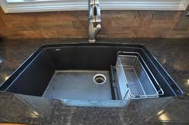 black granite composite sink cleaning photo 2