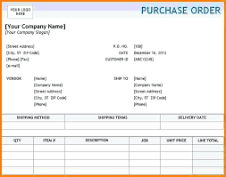 Purchase Order Template Pdf Format In Word Printable Dose