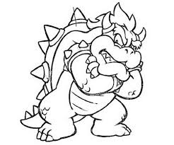 Bowser Coloring Page Educative Printable