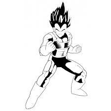 Disegno Di Vegeta Dragon Ball Da Colorare Per Bambini