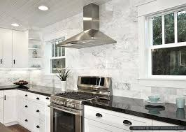 backsplashes for kitchens with white cabinets black white marble subway tile backsplash kitchen white cabinets