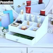 wooden makeup organizer wooden makeup organizer 9 grids cosmetic organizer one drawer jewelry organizer lipstick storage wooden makeup organizer
